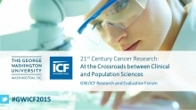 Watch the GW/ICF 21st Century Cancer Research panel discussion