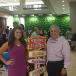 OVPR's Tom Russo and Michelle Carlson at VWR Vendor Fair in June 2015