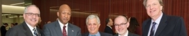 Pres. LeBlanc, Tom Russo, Dr. Canady, Michael Keidar and Michael Plesiniak